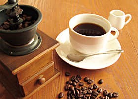 大人へのコーヒーサービス